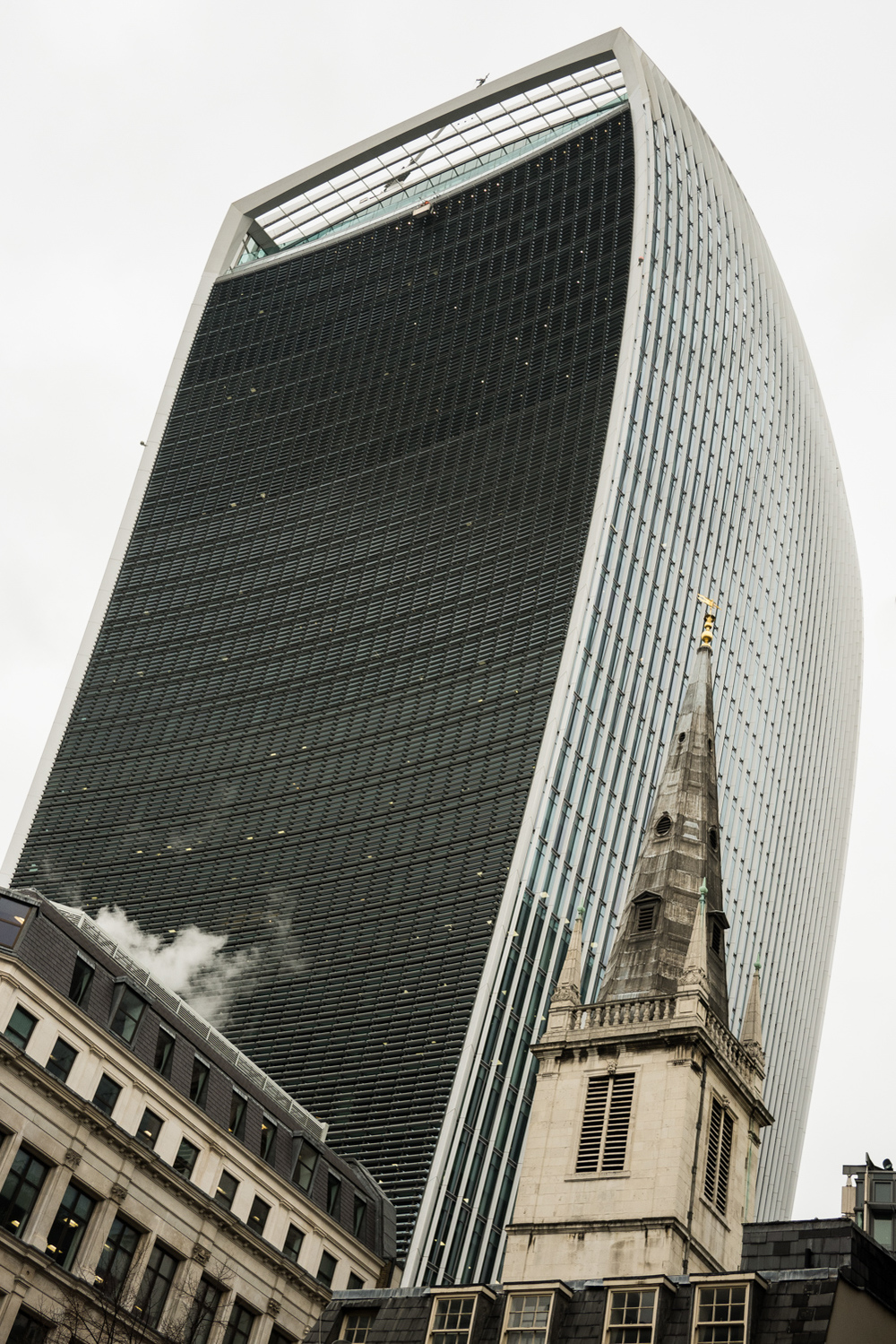 St Margaret's is rather dominated by the 'walkie talkie' building from certain angles