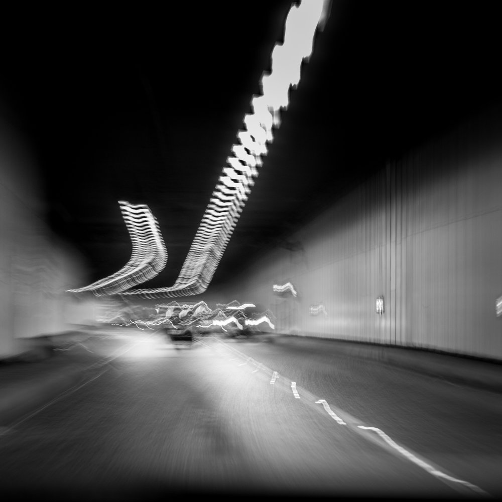 As we travelled through the Limehouse Link Tunnel in east London I thought I'd shoot a picture for the 'movement' theme on a Facebook group I frequent. Initially I wanted one sharp point of focus but I decided this rather abstract approach worked well too!