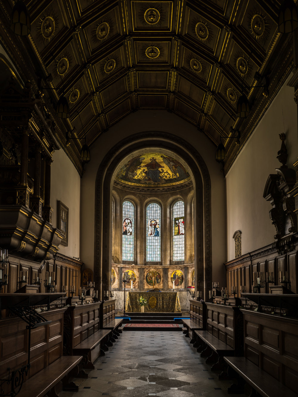 My first experiment with High Resolution mode - Gonville and Caius College Chapel, Cambridge