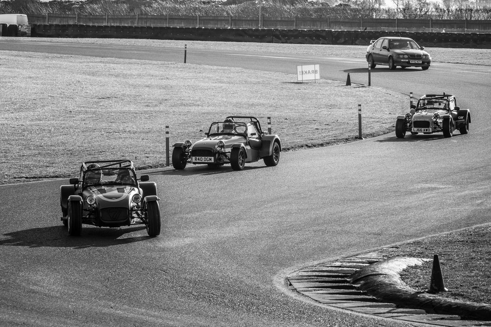 The mechanical shutter was more than fast enough to keep up with the cars on track at Snetterton