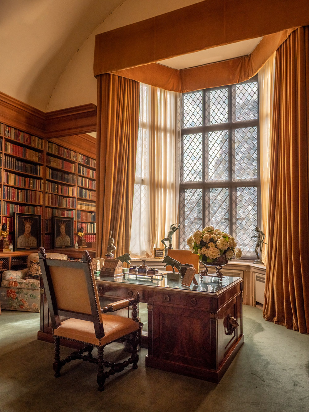 Beautiful light in the library at Anglesey Abbey