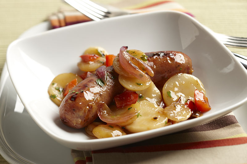 Quick Sausage & German Potato Salad Skillet