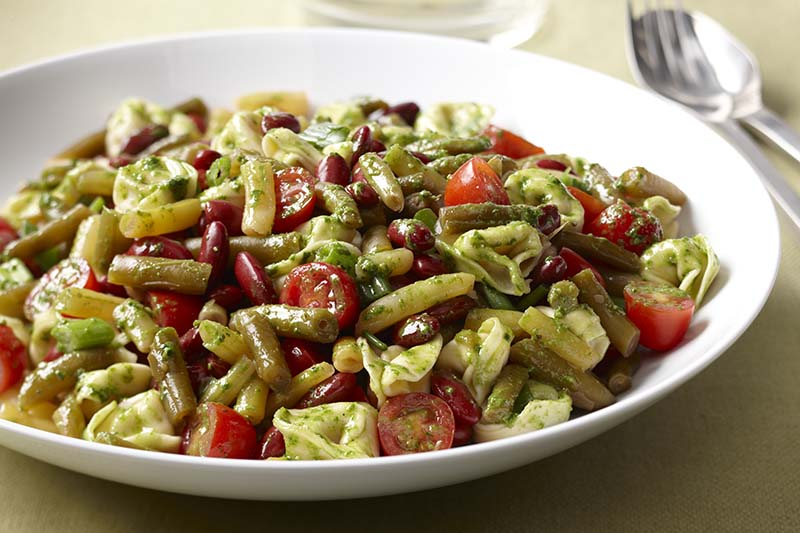 Bean, Tortellini & Pesto Salad