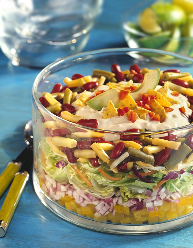 Tex-Mex Layered Bean Salad