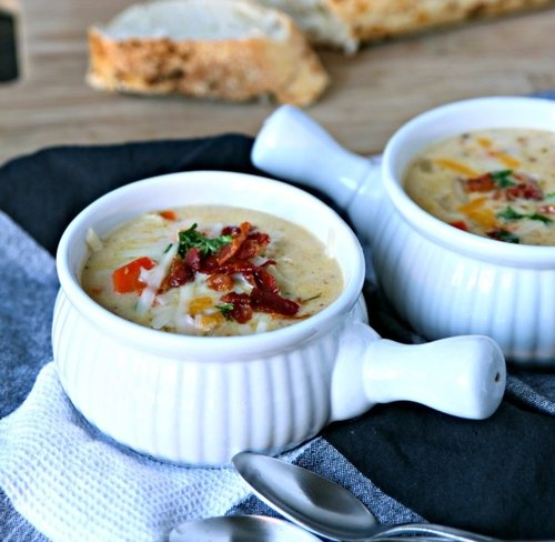 Cheesy German Potato Salad Soup