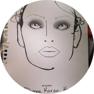 The face chart from tonight's #donnakaran show! A futuristic, youthful look with a boyish twist! #ctfw #nyfw.png