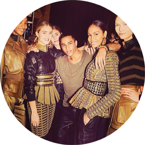 regram from olivier_rousteing-aw14-balmain army