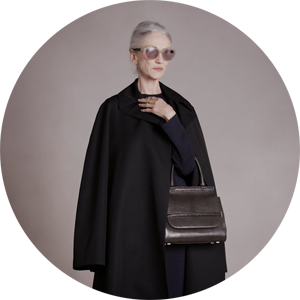 65-years-old Linda Rodin for Olsen sisters' brand The Row