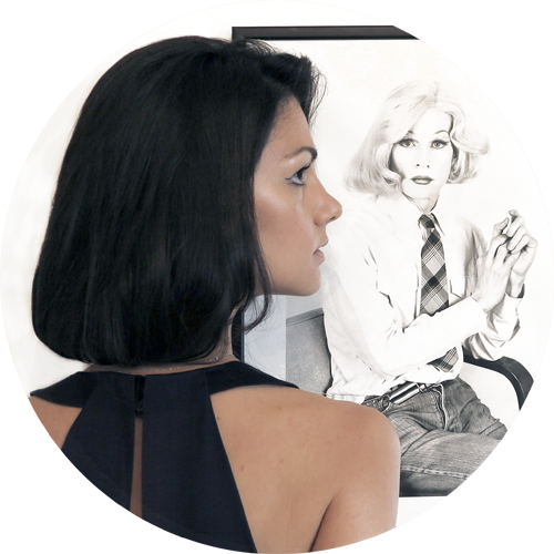 In the background: Lady Warhol by  Christopher Makos . Check out the exposition  Altered Images , from June 12th until August 3rd at Galleria Carla Sozzani, Corso Como 10, Milan. In collaboration with  Ports 1961 .