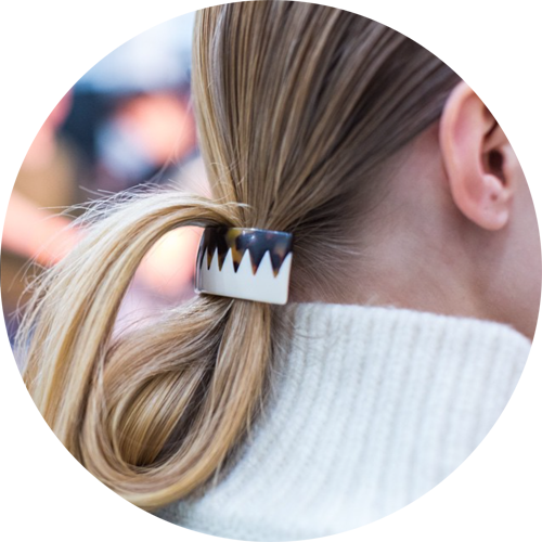"Regram from @suno ""Fold and clip. Hair by @kenraprofessional. #SUNONY #FW15 #NYFW #MBFW #Barrette"""