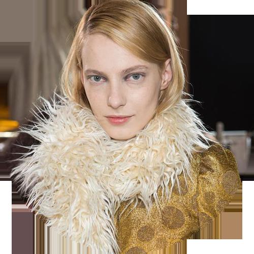 Dries Van Noten beauty look fall 2015Peter Philips makeup