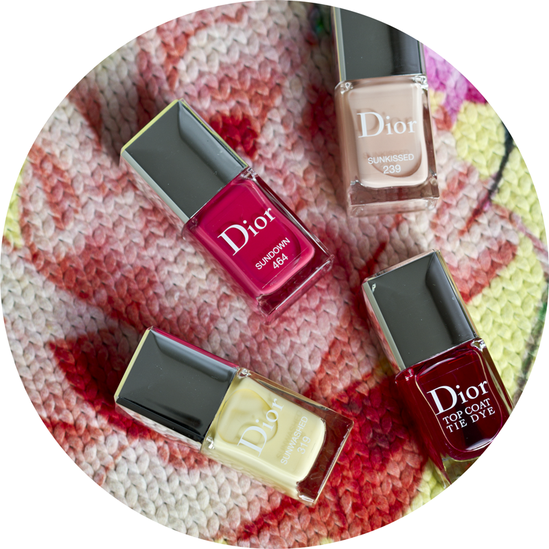 Dior Tie Dye Summer 2015 makeup collection - Dior Le Vernis in Sunkissed Sundown and Sunwashed and Dior Tie Dye Top Coat