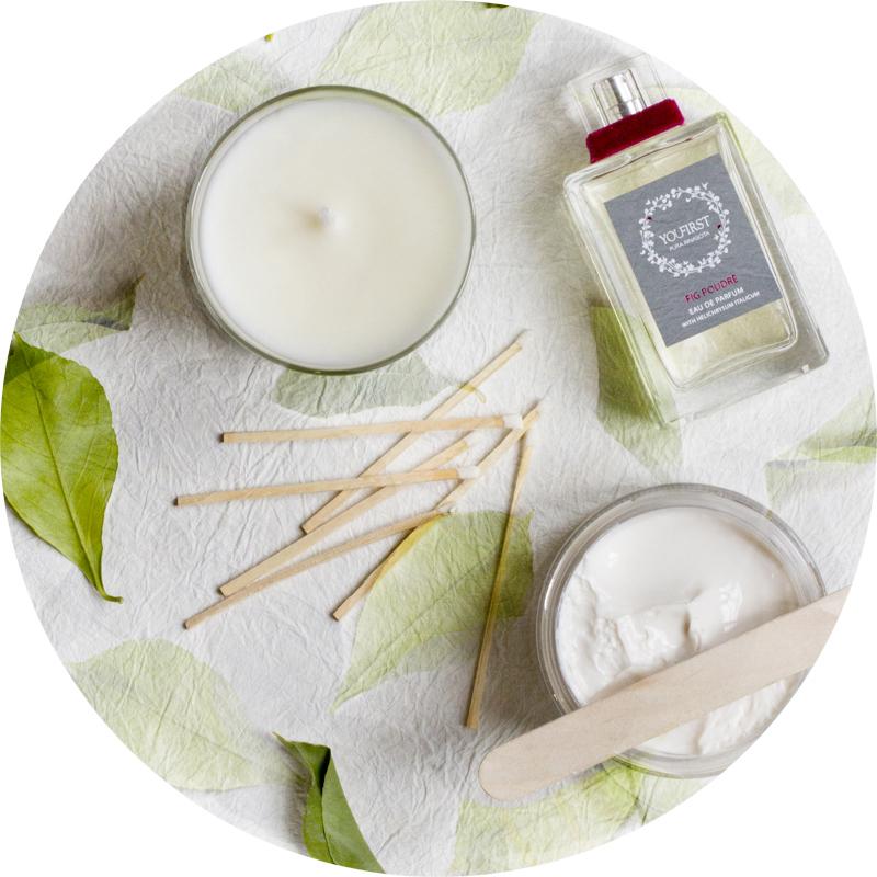 YouFirst Pura Rinascita niche scent eau de parfum body cream scented candle fig poudre velvet woods spices bouquet