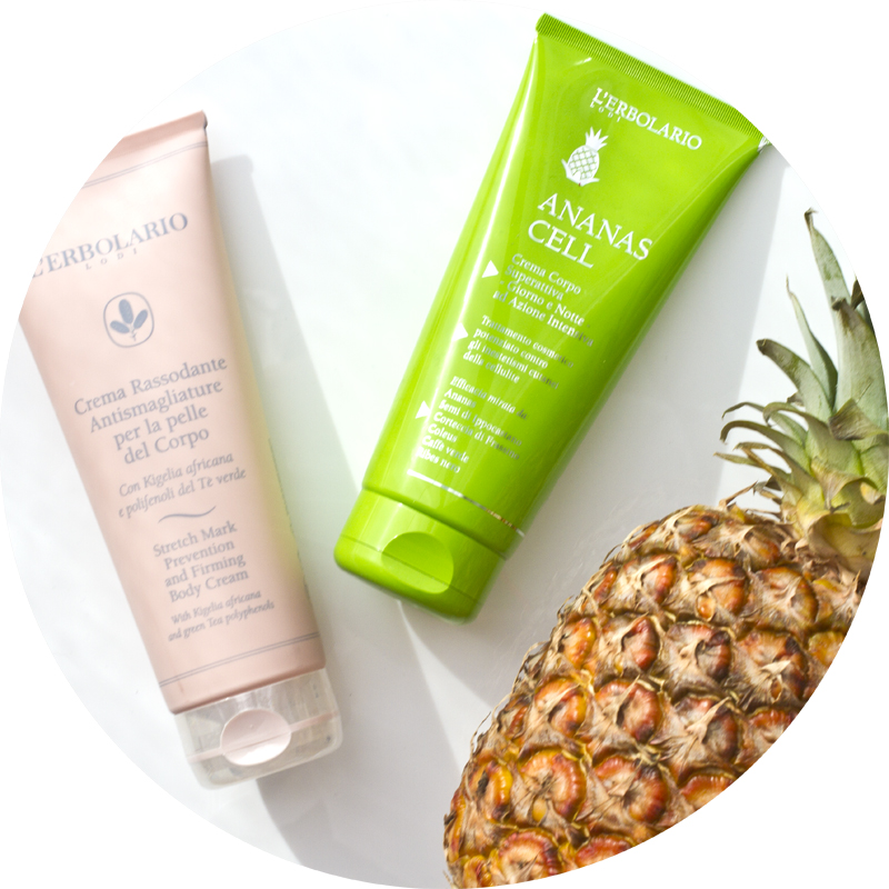 l'erbolario Ananas Cell crema corspo superattiva giorno e notte ad azione intensiva e crema rassodante antismagliature per la pelle del corpo - Stretch mark prevention and firming body cream and Body Cream day and night intensive action