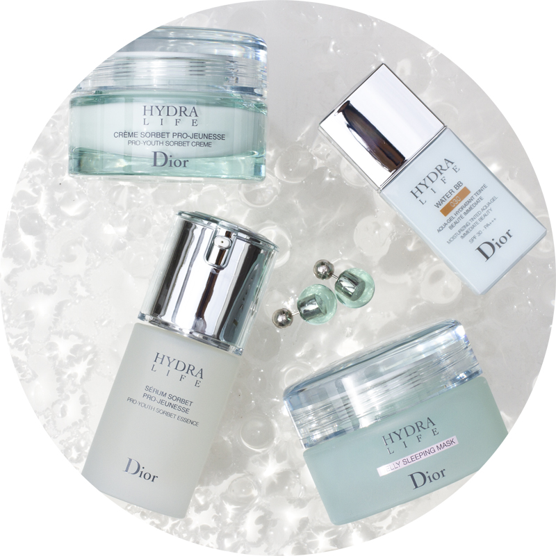 dior hydralife creme sorbet - serum sorbet - jelly sleeping mask - bb cream