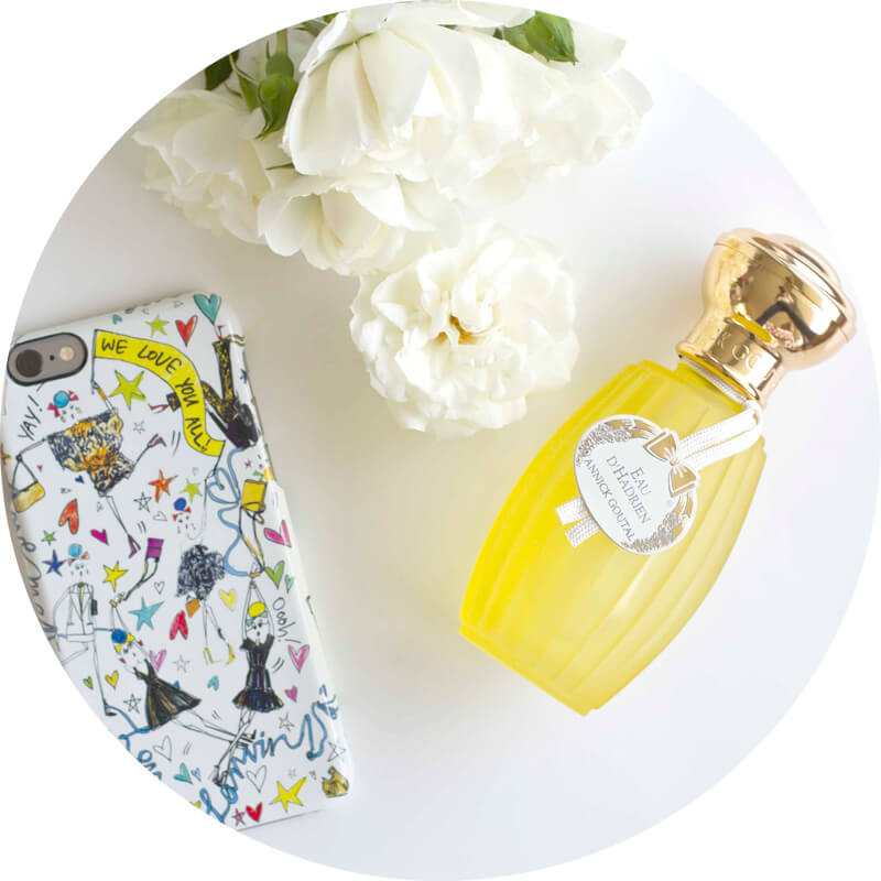annick goutal eau d'hadrien and lanvin iphone case cover We love you all