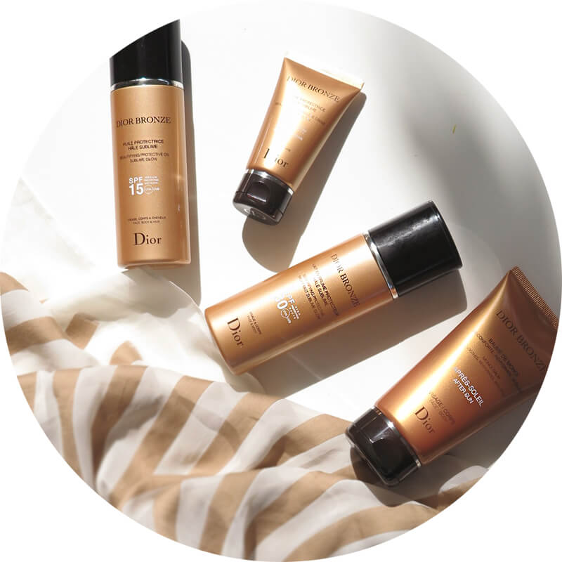 Dior Bronze -  Beautifying Protective Creme Sublime Glow - beautifying Protective Milky Mist Sublime Glow SPF30 - Beautifying Protective Oil  Sublime Tan SPF15 - After-Sun Care Monoï Balm