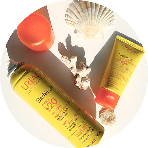 Uriage Bariésun Brume SPF20 and Crème Teintée Dorée SPF50+ sun sunscreen
