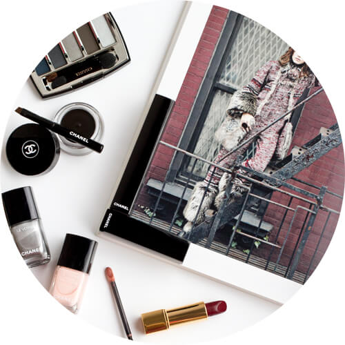 chanel collection libre: Le vernis longue tenue liquid mirror; le vernis velvet in pink rubber; calligraphie de chanel eyeliner hyperblack; eyeshadow palette in architectonic; rouge allure ultraberry