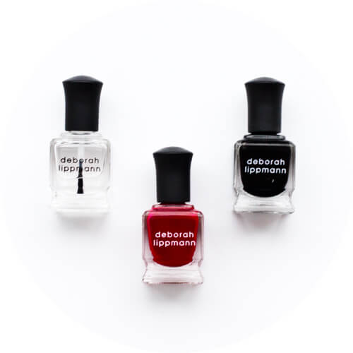 deborah lippmann lady is a trump - fade to black - hard rock - nail polish