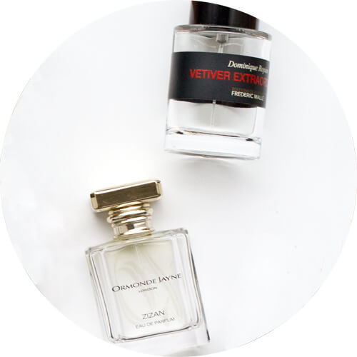 frederic malle vetiver extraordinaire and ormonde Jayne Zizan