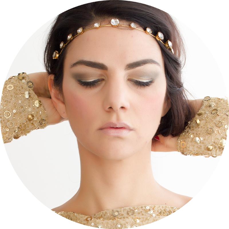 Dolce&Gabbana Makeup - baroque night out makeup look gold