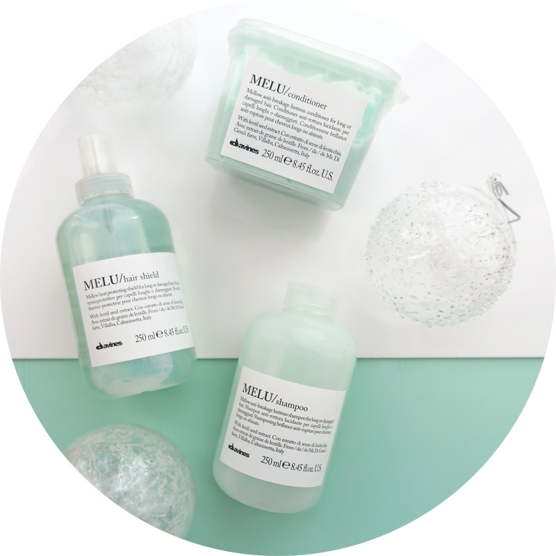 Melu Hair Essenltial Davines shampoo conditioner hair shield