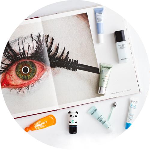 From left, up: Clinique Pep Start Eye Cream;Panda's Dream Stick;Darphin All Day Eye Refresh Gel-Cream; Uriage Water Eye Contour Cream; Caudalíe Vine[Activ] Eye Cream; Chanel Hydra Beauty Gel Yeux; Comfort Zone Hydra Memory Eye Gel