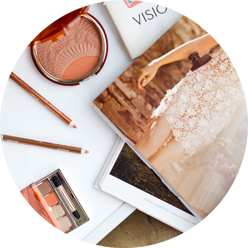 Clarins Sunkissed makeup collection: Poudre Soleil & Blush; Crayon Yeux Waterproof in Copper and Gold; Palette Yeux 4 Couleurs