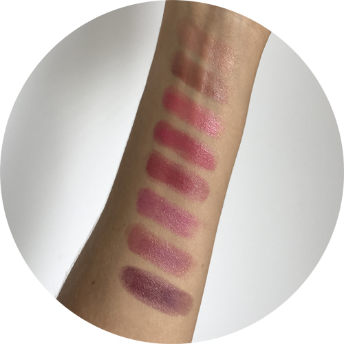 D&G Miss Sicily swatches from top: Anna, Angelica, Rosa, Concetta, Rosalia, Annunziata, Domenica, Onofria. (Antonia, a beautiful nude with golden sparkles is sadly missing, must be lost in one of my bags...).