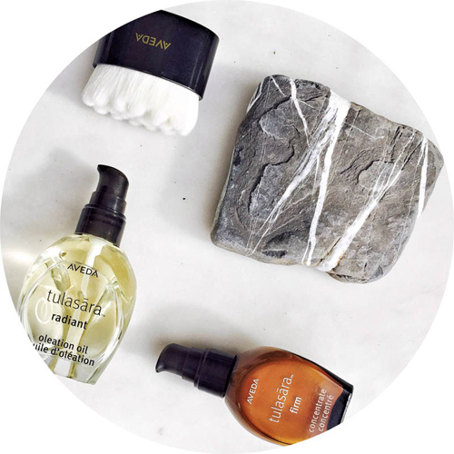 Aveda Tulasara Radiant Awakening Ritual: Dry Brush, Oleation Oil and Concentrate