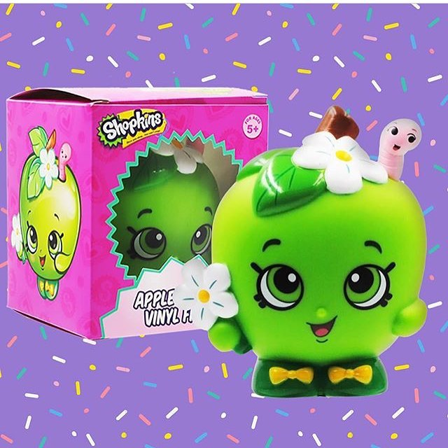 "@shopkinsdirect box coming soon with this exclusive 4"" vinyl! 🍏check out shopkinsdirect.com for more details"