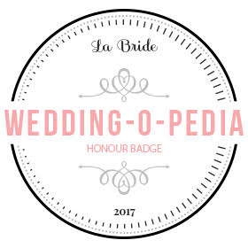 La Bride - Wedding-O-Pedia Honor Badge 2017