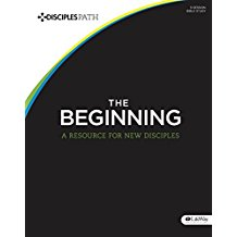 Disciple's Path: The Beginning is an intentional Bible study for new disciples of Christ that can be used in multiple group sizes ranging from one-on-one to larger groups.