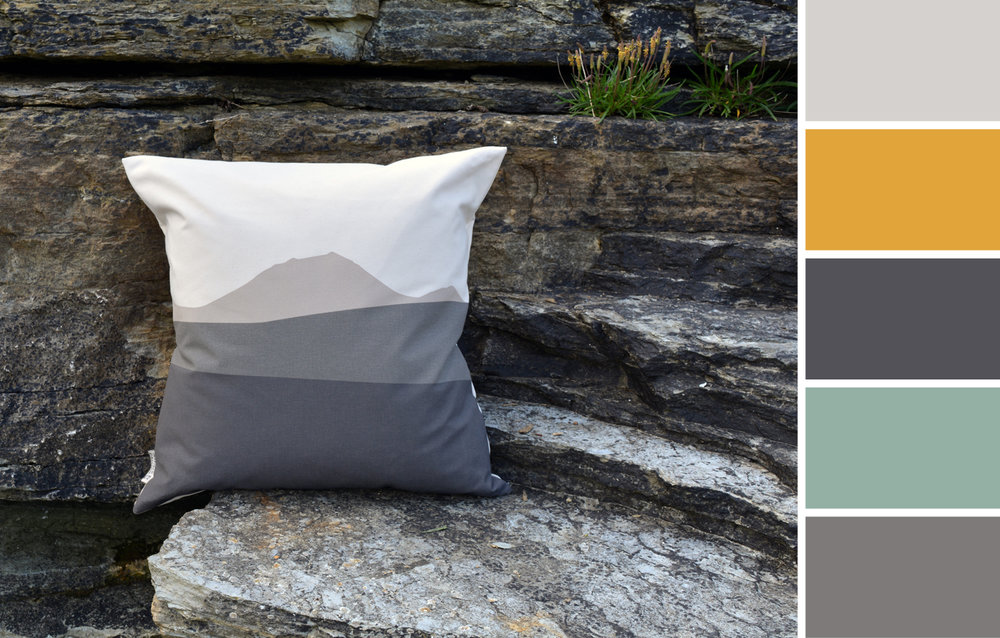 Caithness Morven cushion interior colour palette