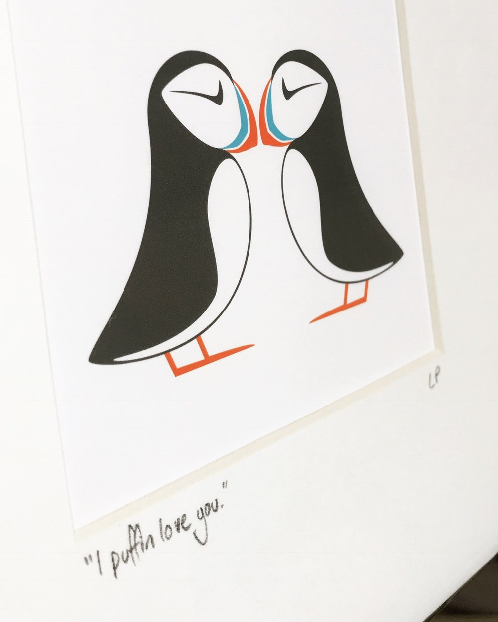 wee puffin print caithness