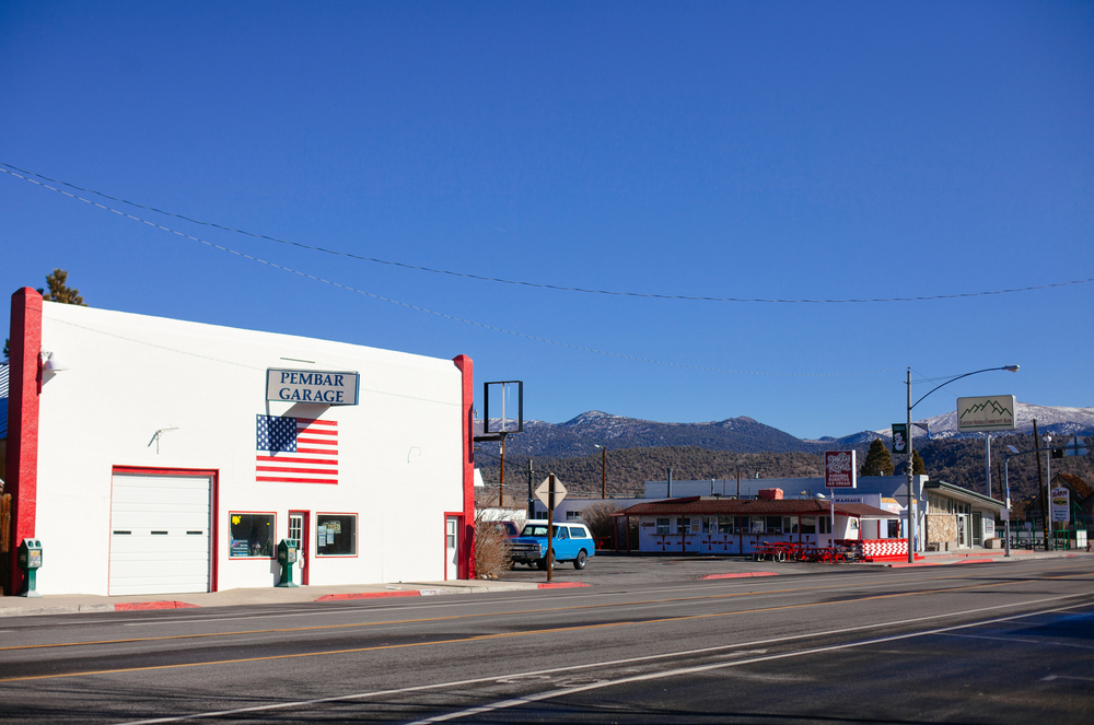 Bridgeport, Calif.   A bit of a ghost town in the winter.