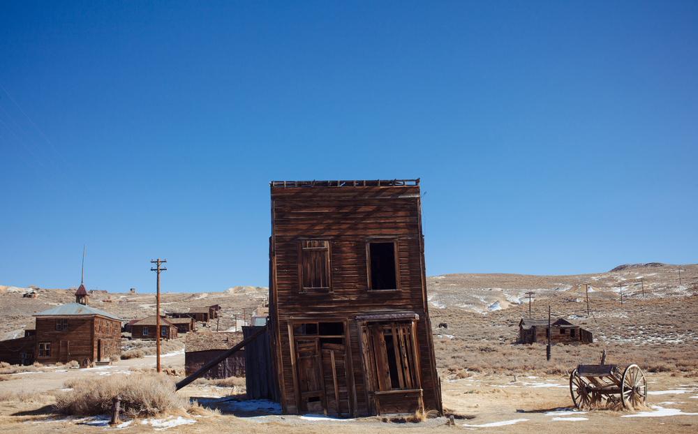 Bodie, Calif.   Always a ghost town.