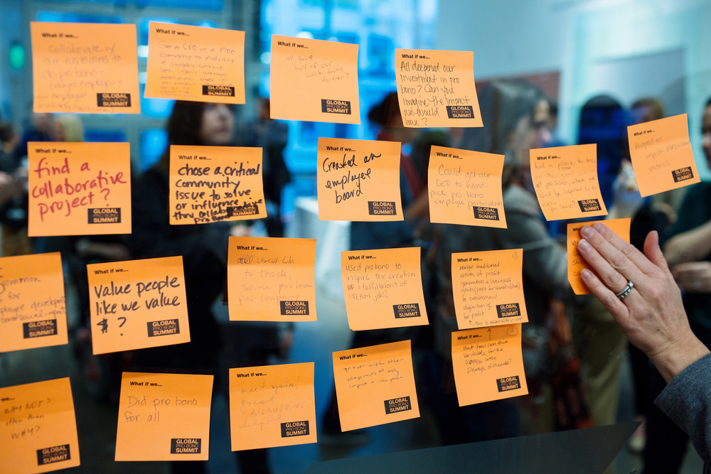 Some of the top ideas shared at the 2014 Global Pro Bono Summit in San Francisco on Feb. 26,  2014.