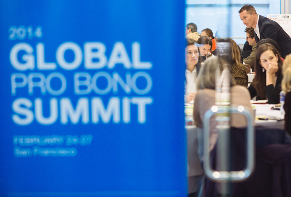 The 2014 Global Pro Bono Summit in San Francisco on Feb. 26,  2014.