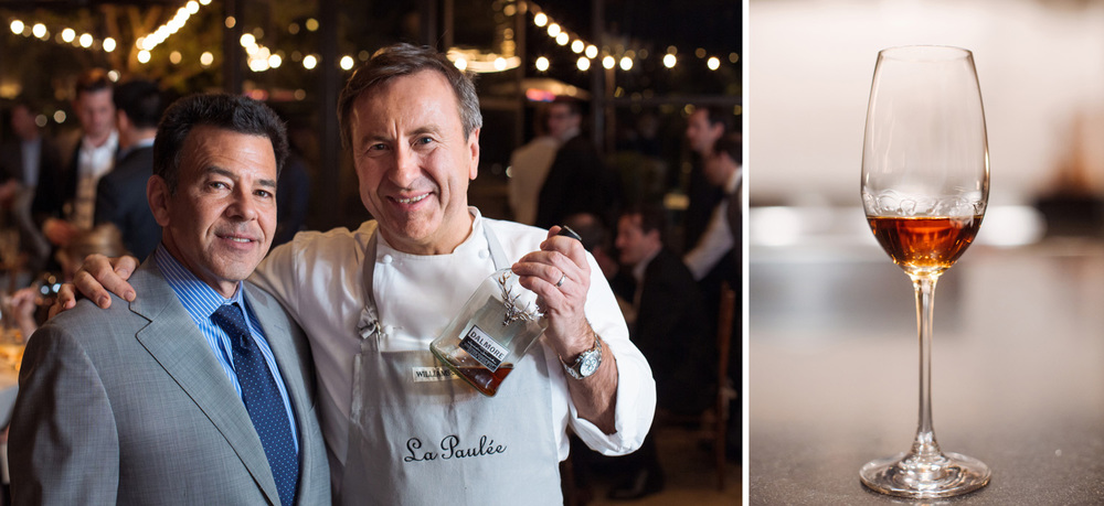 James Beard Foundation award-winning sommelier Daniel Johnnes, founder of La Paulée de San Francisco and New York, with Daniel Boulud. The whisky, right.