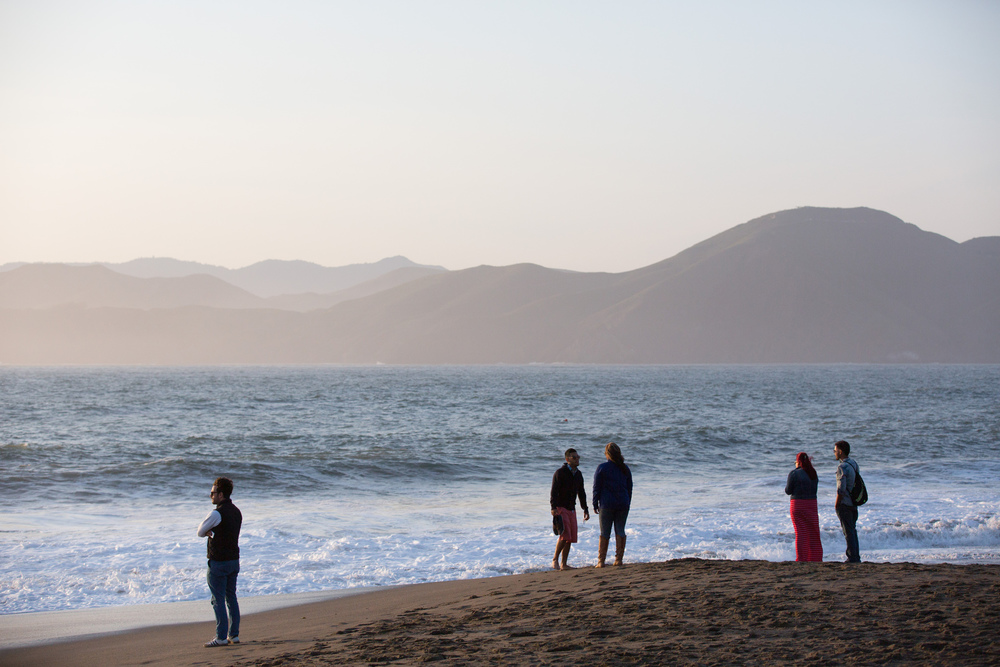 Baker Beach in San Francisco, Calif., April 20, 2014. Photos by Brad Zweerink.