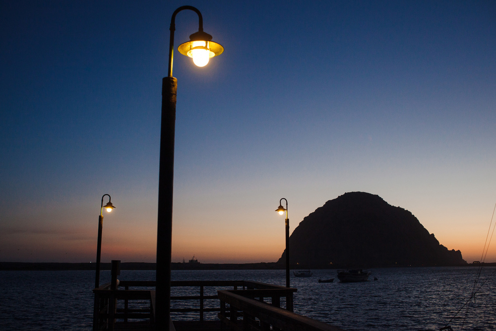 The rock at Morro Bay, Calif.
