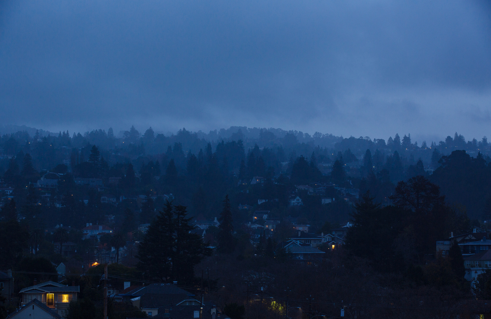 Blue hour in Oakland, Calif.