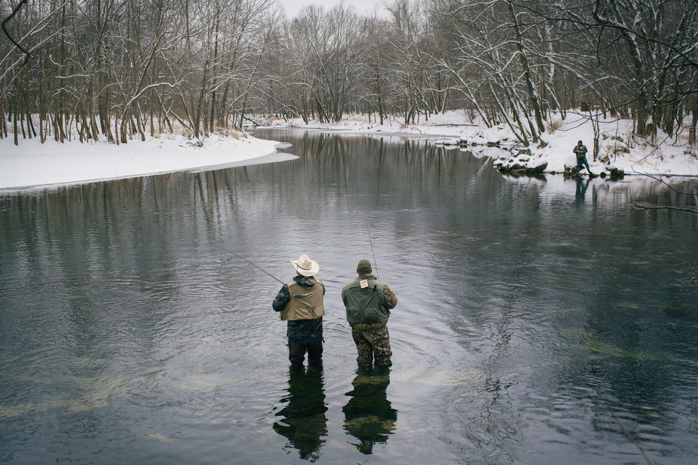 Trout fishing opening day at Maramec Spring Park near St. James, Mo. on March 1, 2015. (Photos by Brad Zweerink)