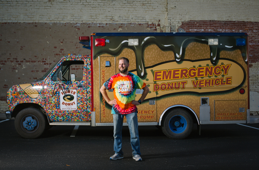 Hurts Donut food truck with owner Tim Clegg in Springfield, Mo. Photos by Brad Zweerink