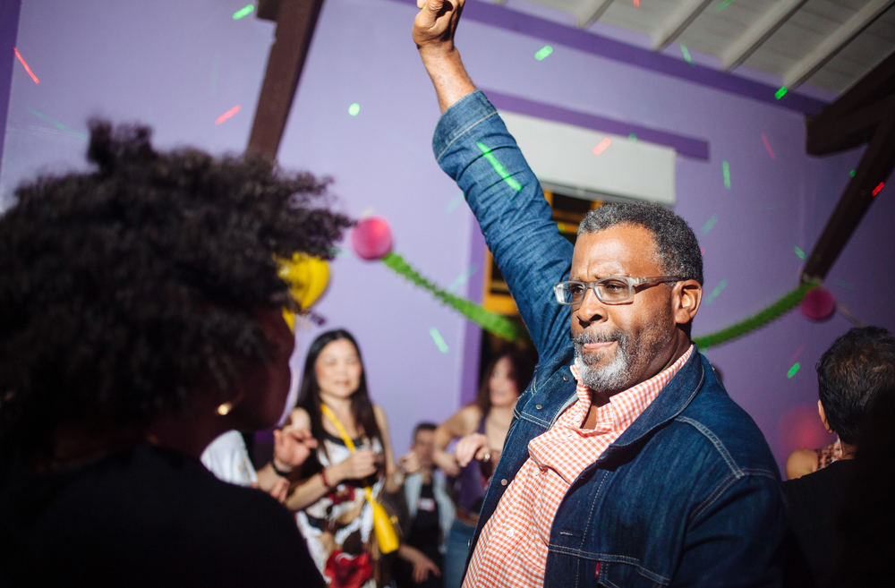 Kym's 50th birthday party at the Humanist Hall in Oakland, Calif., Feb. 26, 2016. Photos by Brad Zweerink