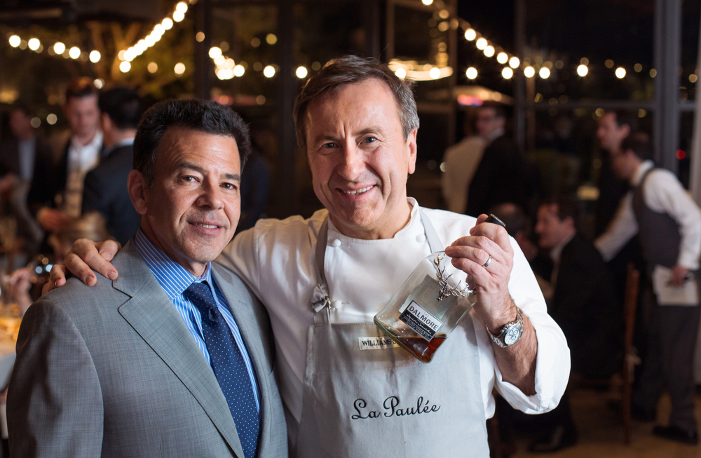 James Beard Foundation award-winning sommelier Daniel Johnnes, founder of La Pauée de San Francisco and New York, with Daniel Boulud.