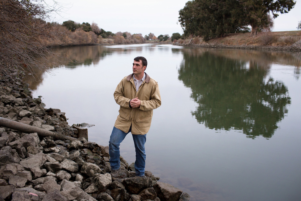 Brett Baker's family has been growing pears and other crops next to Steamboat Slough in the Sacramento–San Joaquin River Delta since the mid 1800s.