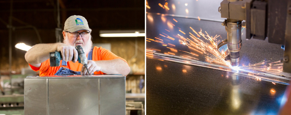 Joe Berry, who has been with Springfield Engineering Company for more than 25 years. The company's plasma cutter.